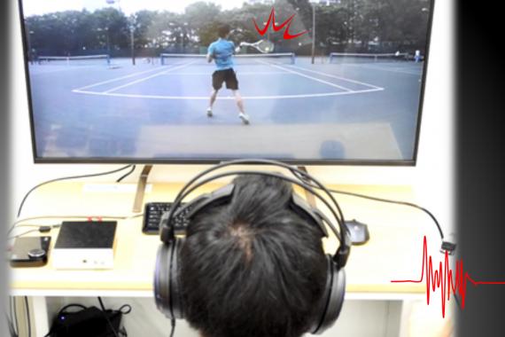 映像に適切な振動の推定と付与