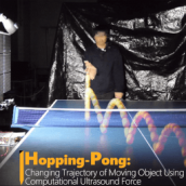 Hopping-Pong: Trajectory Control of Moving Object Using Airborne Ultrasound