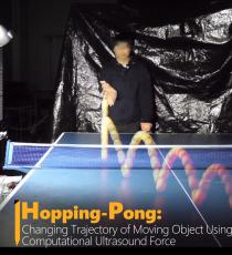 Hopping-Pong: 超音波による動的物体の軌道制御